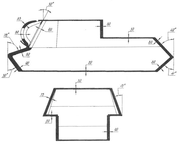 Схема бронирования ИСУ-152